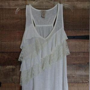Eyelash Couture Soft Lace High/Low Tank Size XL